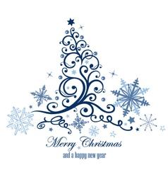 Frozen christmas tree vector