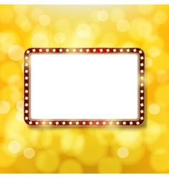 Golden retro frame vector image