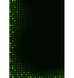 Green Pixels Background vector image vector image