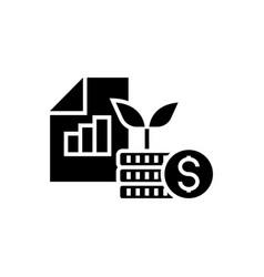 investment portfolio icon vector image vector image