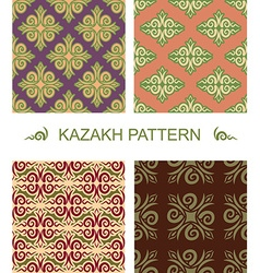 Kazakh pattern Traditional national pattern of vector image vector image