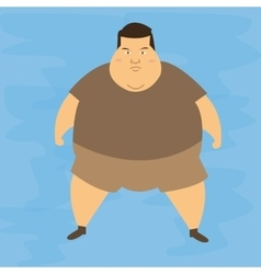 Man obese obesity fat belly not healthy overweight vector