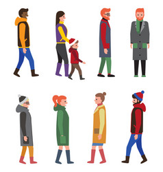 people collection of icons vector image vector image
