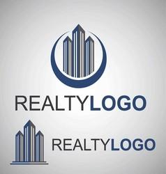 realty logo 1 vector image vector image