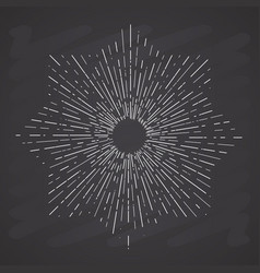 Retro sun bursts vintage radiant sun rays shape vector