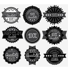 set of 9 dark labels vector image vector image
