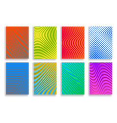 set of covers halftone geometric design vector image vector image