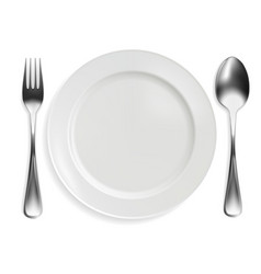 spoon on white background vector image