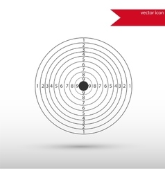 Target Icon Flat design style vector image