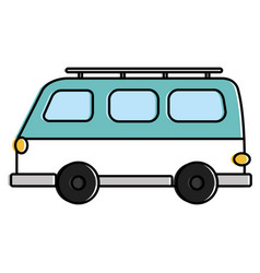 travel van vehicle icon vector image vector image