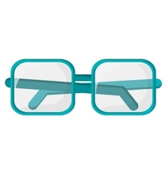 Square frame glasses icon vector