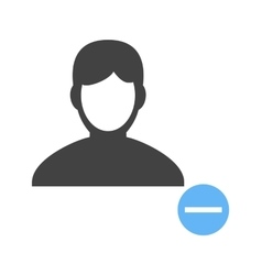 Delete male profile vector
