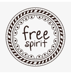 Free spirit boho style vector