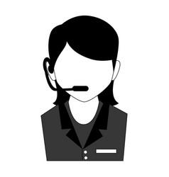 call center agent service icon vector image