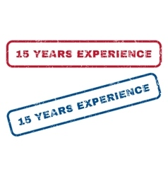 15 years experience rubber stamps vector