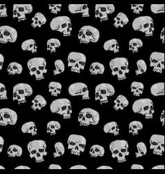 Seamless skulls black vector