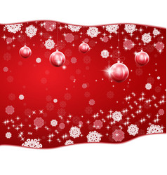 Christmas red background with stars and snowflakes vector