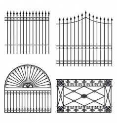 Fences vector