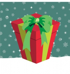 Christmas presents box vector image