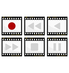 Video buttons vector