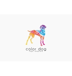 Dog logo design Animal logo Colorful logo vector image
