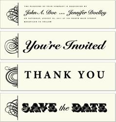 Wedding banners vector