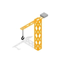 Construction crane icon isometric 3d style vector
