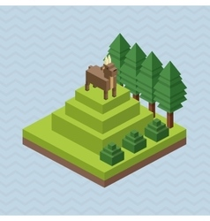 Animal design isometric icon nature concept vector