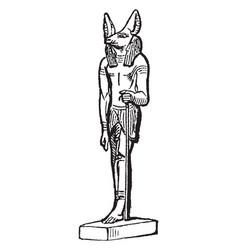 Anubus is an egyptian deity vintage engraving vector