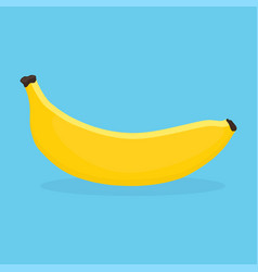 banana on blue background vector image vector image