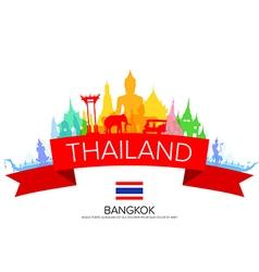 Bangkok Thailand Travel vector image vector image