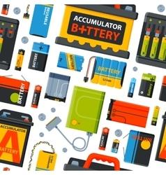 Battery energy seamless pattern vector