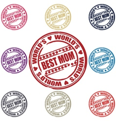 best mom stamp vector image vector image