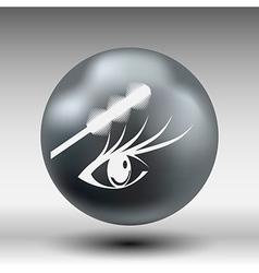 Brushes mascara and mascara brush makeup eye vector