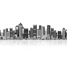 Cityscape seamless background for your design vector image