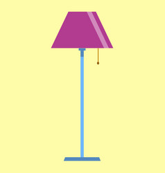 floor lamp icon on yellow background flat design vector image vector image