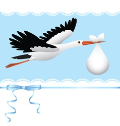 Flying stork vector image