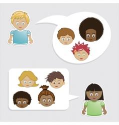 kids friends vector image vector image
