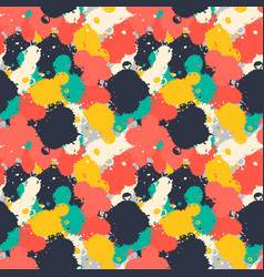 Lnk art brush splash seamless pattern grunge vector