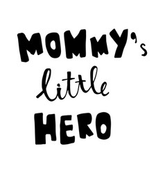 mommy lettering vector image