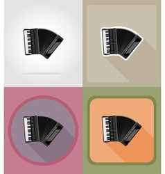 Music items and equipment flat icons 09 vector