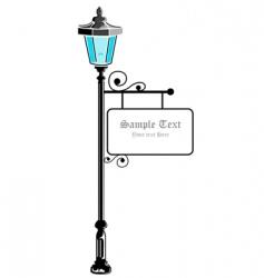 pillar lamp vector image vector image