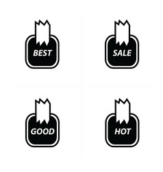 price label sticker set vector image vector image