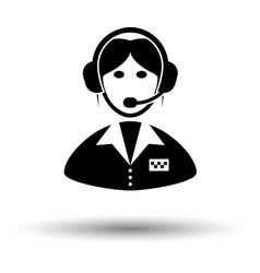 Taxi dispatcher icon vector