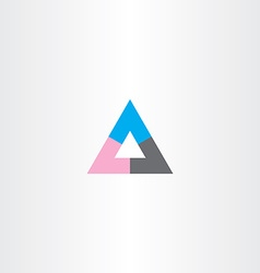 tech business abstract triangle logo icon sign vector image