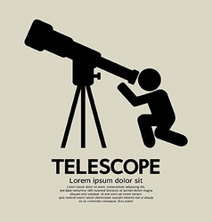Telescope graphic symbol vector