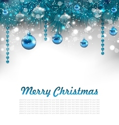 Traditional glowing background with christmas vector