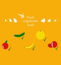 vegetables top view frame farmers market menu vector image