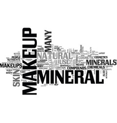 What is mineral makeup text word cloud concept vector