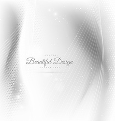 Beautiful wave white background vector
